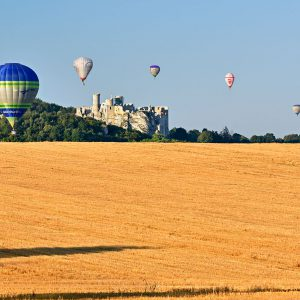 Jura, balony nad Zamkiem Ogrodzienieckim